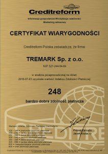 certyfikat wiarygotności